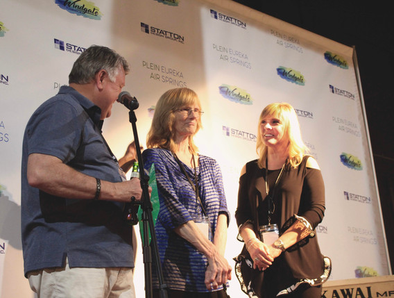 Jom and Jody Statton with Eureka Springs Plein Air founder Jody Stephenson