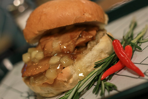 Roast Pork Bap, Apple Sauce, Stuffing & Gravy
