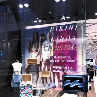 Creative Window Display (Billabong Christmas 2018)