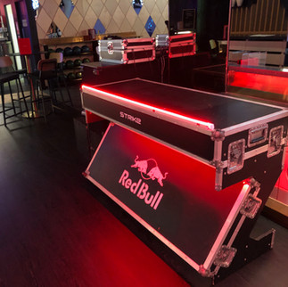 DJ Booth with Neon Light