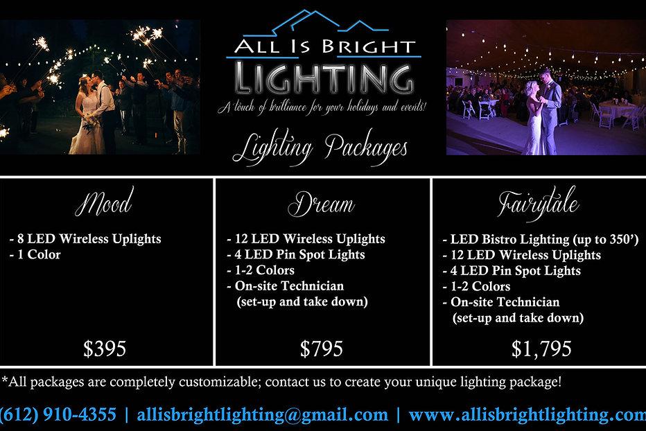 Wedding Bistro LED Lighting and Sparklers