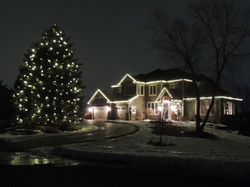 Warm White Christmas Lighting