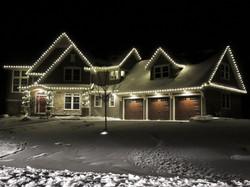 Warm White Roofline & Garland Lights