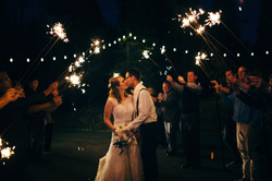 Wedding Bistro Lighting & Sparklers