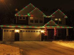 Red and Green Alternating LED Lights