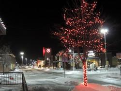 Red Holiday Tree Lighting