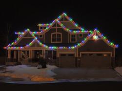 Multi-colored LED Roofline Lighting