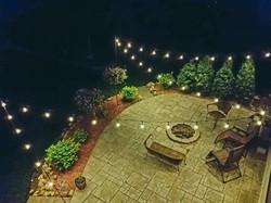 Warm White Backyard Patio Lighting
