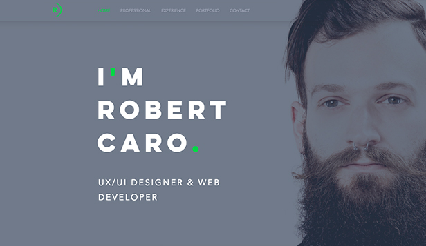 Portfolio website templates – UX/UI Designer-Lebenslauf