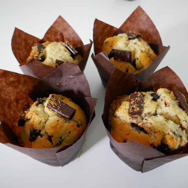 Muffins chocolat coco
