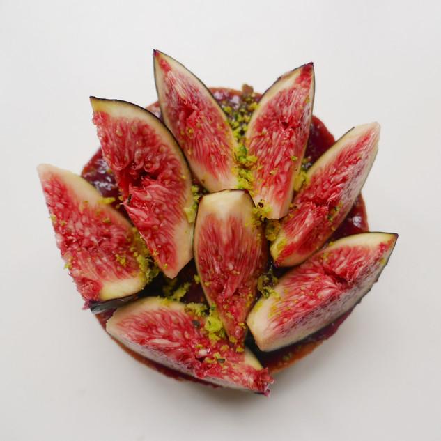 Tarte aux figues et pistache
