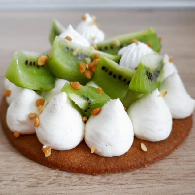 Tarte vanille kiwi