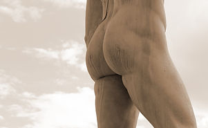 Marble Statue With Muscular Legs And Buttocks White.jpg
