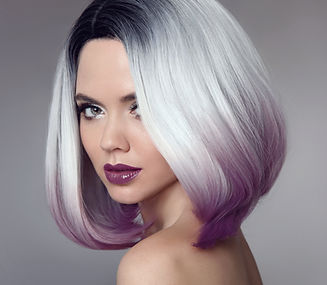 Ombre bob short hairstyle. Beautiful hai