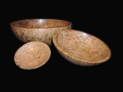 Nest Of 3 Sweet Chestnut Burr bowls 18 inches x 5 inches