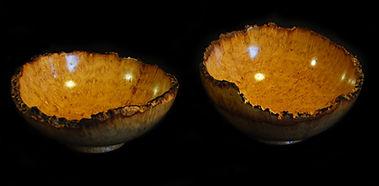 Acacia Burr Bowls 4 inches x 2 inches