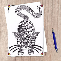 Doodle cute kitty cat lovers purrfect bi