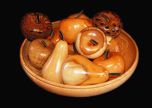 Bowl Of Fruit Various Woods