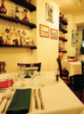 wine glasses, table set