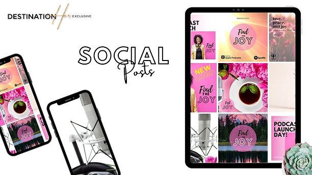 Podcast Social Media Bundle. 5 for 50