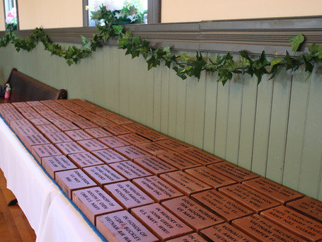 First 75 engraved bricks