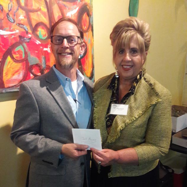 Jeff Murray and FW Chapter President Elaine Piekarski