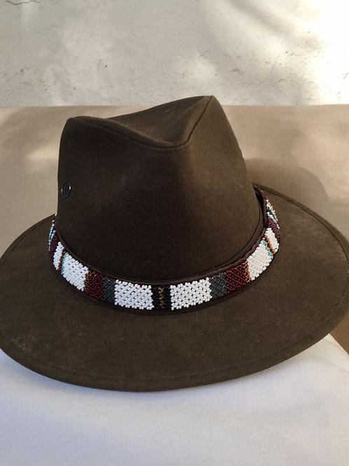 Hat Band (M) White Grey