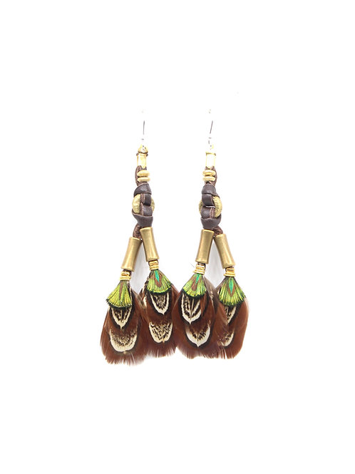 Short Earrings Mabawa Nubian Speckled