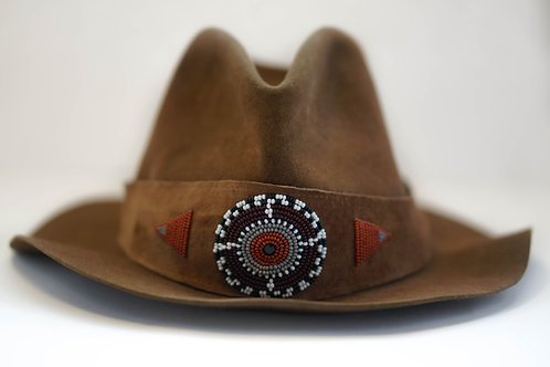 Hat Band Brown (W) Burgundy