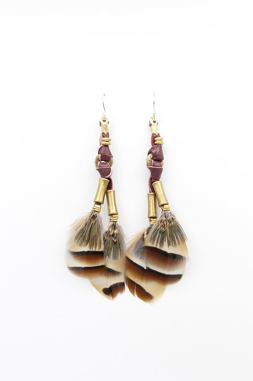 Short Earrings Mabawa French Partridge