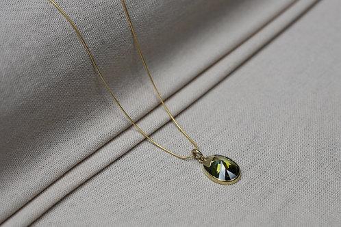 Zircon Necklace Brass