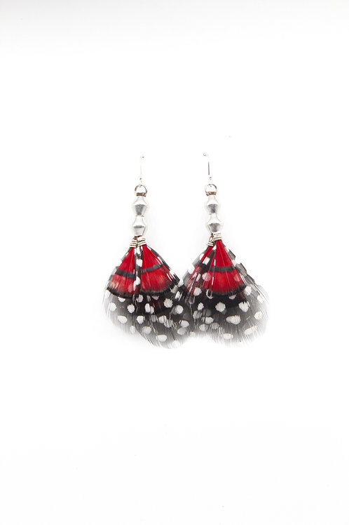 Short Earrings Lady Amherst Red
