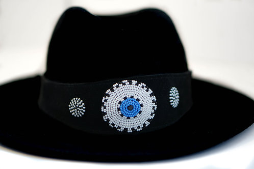 Hat Band Black (W) Turquoise