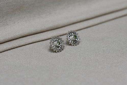 Mandala Earrings Peridot