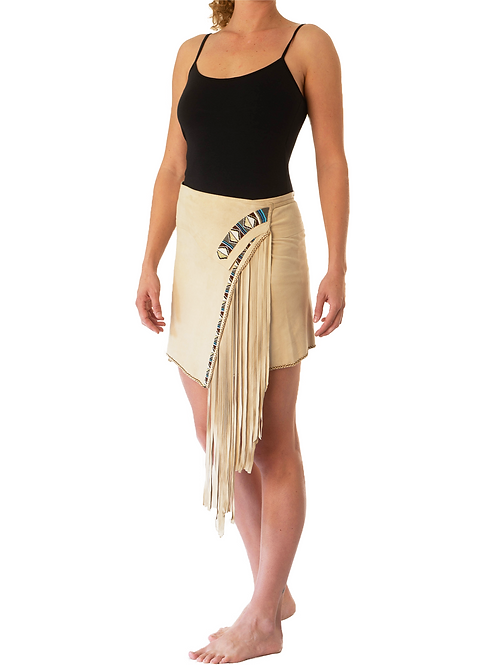 Mini Wrap Skirt Ivory