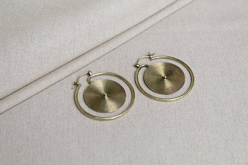 Miao Spiral Earrings Brass