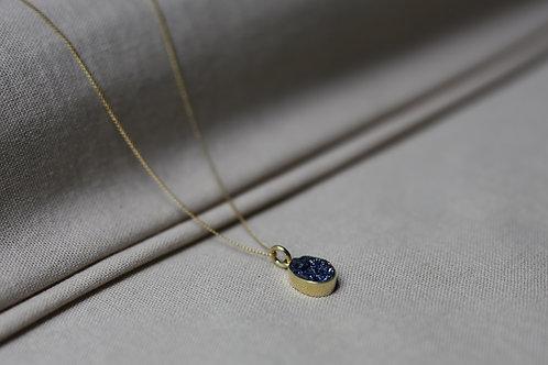 Blue Druzy Gemstone Necklace