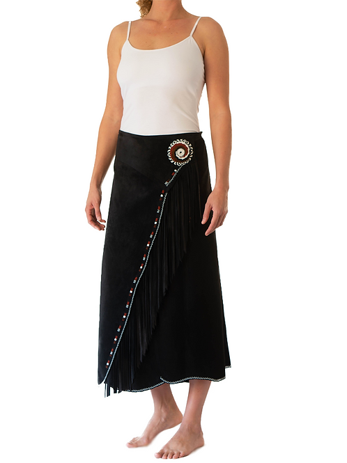 Long Skirt Wrap Black