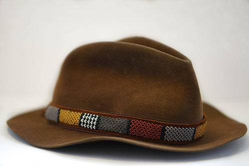 Hat Band (M) Grey Burgundy