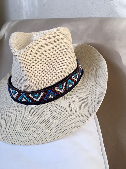 Hat Band (M) Blue Zig Zag