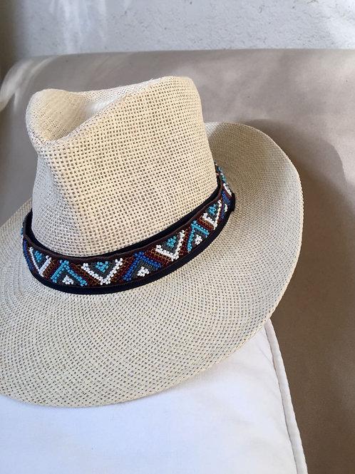 Hat Band (M) Blue Zig Zag