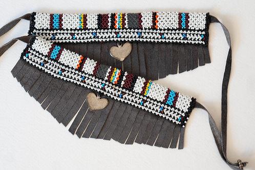 Boot Bracelet Grey Maasai