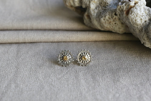 Mandala Earrings Citrine