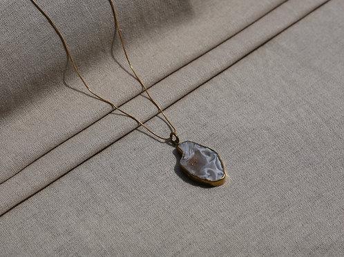 Agate White Necklace