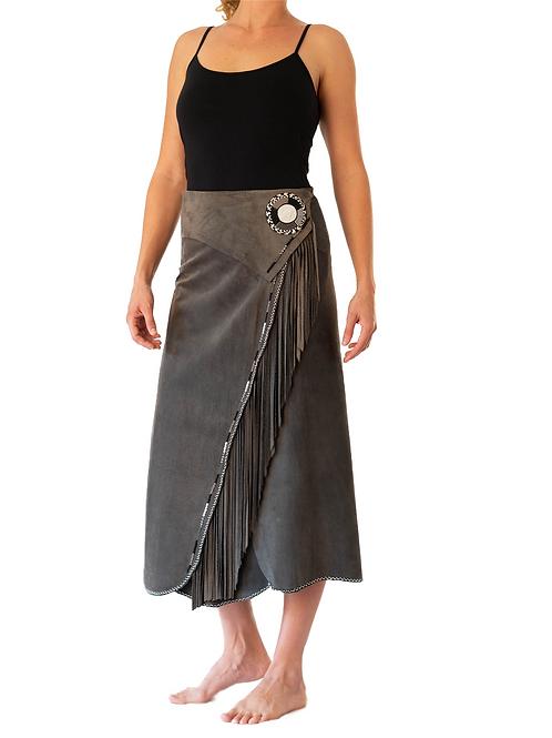 Long Skirt Wrap Grey
