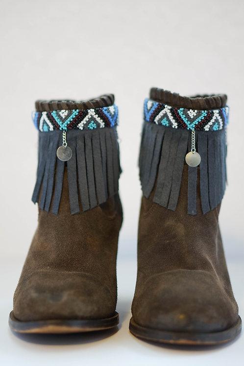 Boot Bracelet Grey Blue