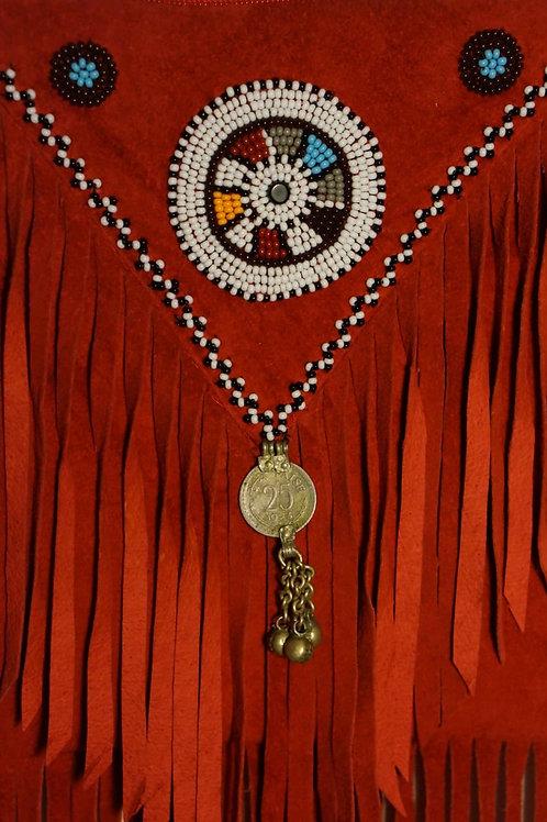 Fringe Bag Red Maasai