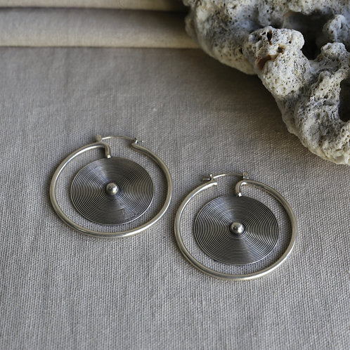 Miao Spiral Earrings (Small)