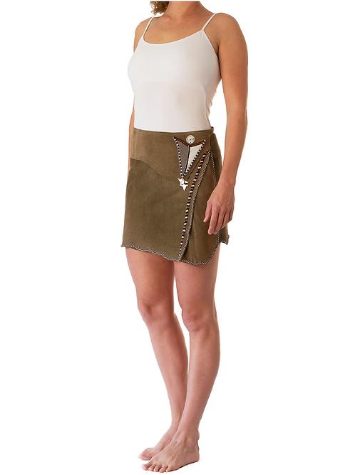 Mini Wrap Skirt Khaki Green