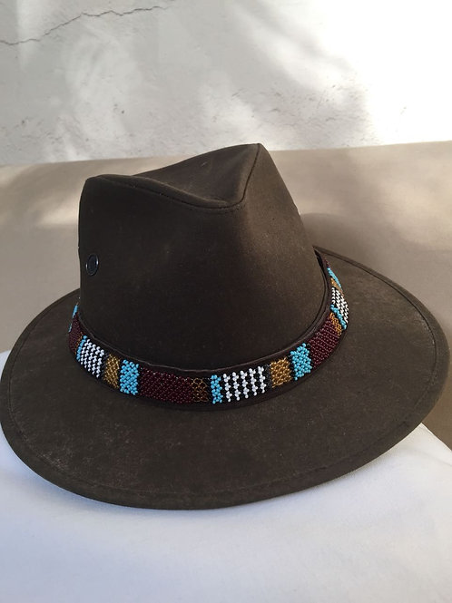Hat Band (M) Burgundy Blue